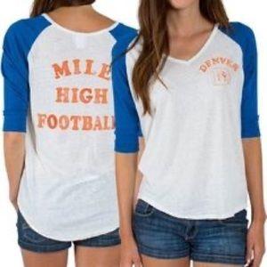 Denver Broncos Mile High Football Graphic T-Shirt